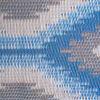 Blue Ikat Reversible Outdoor Rug 4'x6'