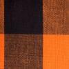 Grid Round Orange Cotton Tablecloth