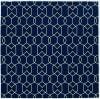 Geometric Design UV-treated Navy and White Area Rug