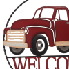 Welcome Truck Metal Wall Decor