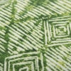 Green Batik Pattern Printed Outdoor Pillow