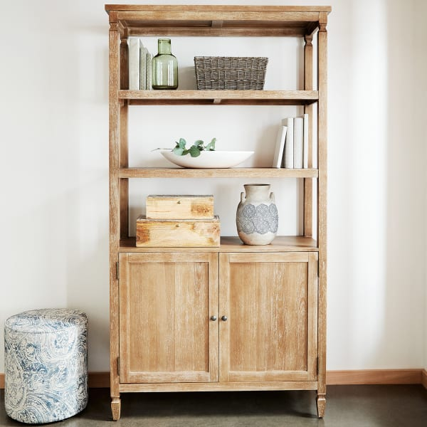 Bradding Natural Stonewash Bookshelf