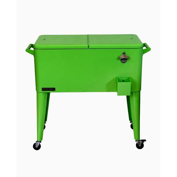Lime Steel Patio Cooler Cart