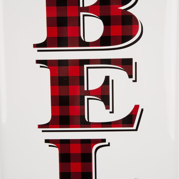 Believe Red & White Christmas Metal Wall Decor