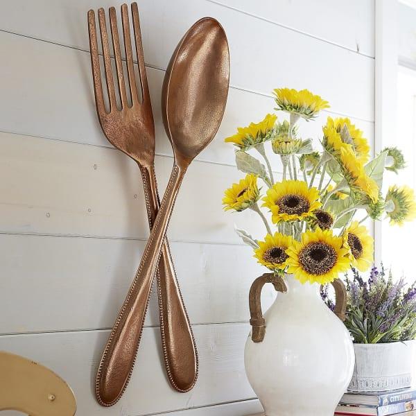 Fork Wall Decor - Copper