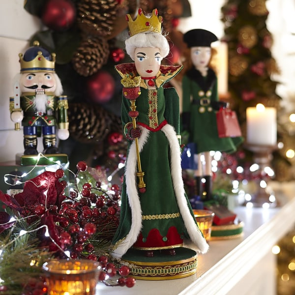 Royal Emerald Queen Nutcracker