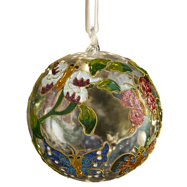 Cloisonne Butterfly Ball Ornament