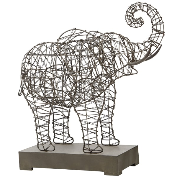 Woven Wire Elephant Sculpture