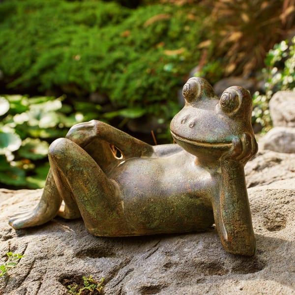 Terracotta Relaxing Frog