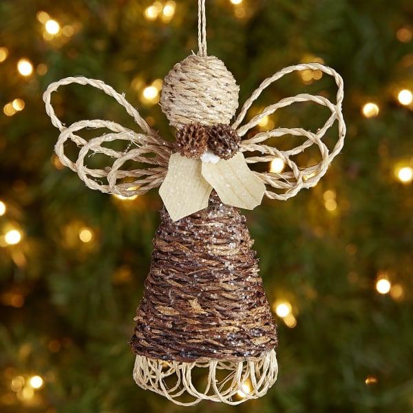 Abaca Woven Angel Ornament