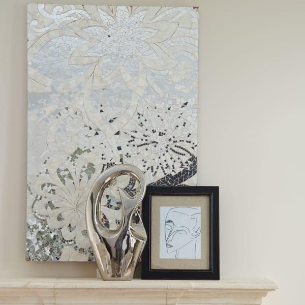 Floral Capiz Mosaic Wall Panel