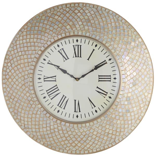 Ivory Mosaic Wall Clock