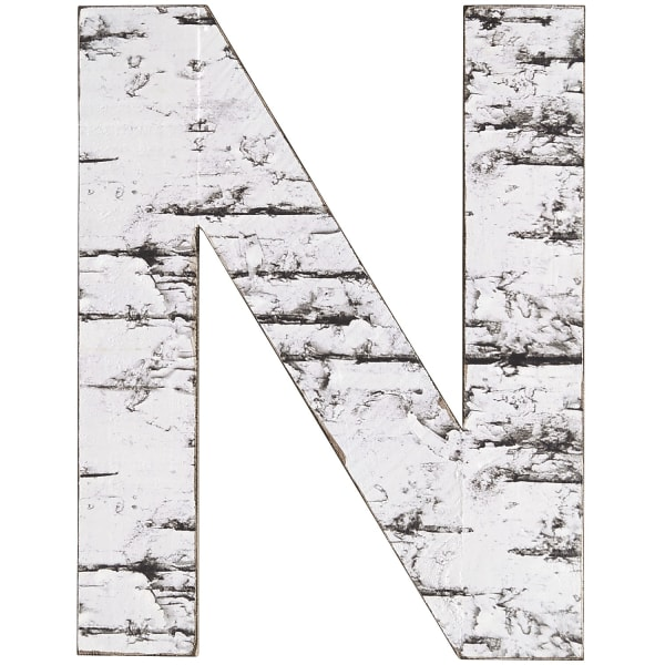 Weathered Letter Wall Decor - N