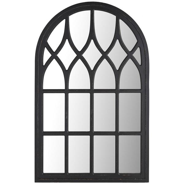 Black Washed Window Mirror