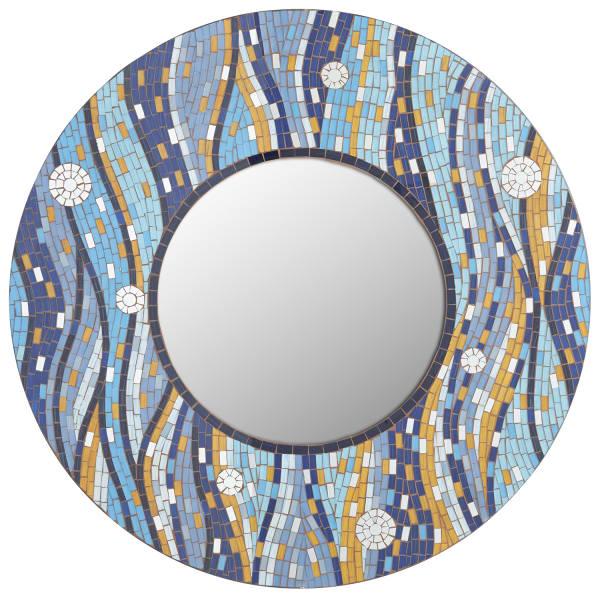 Blue Mosaic Waves 32