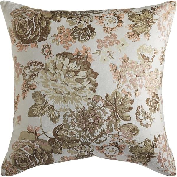 Romantic Glam Printed Velvet Floral Pillow