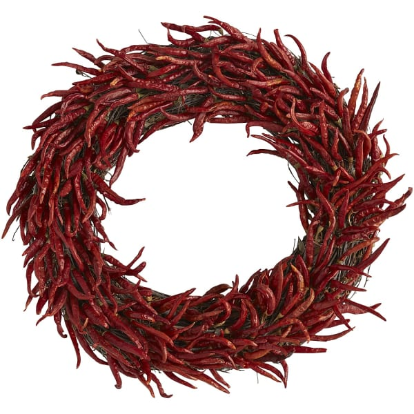 Preserved Red Chili Pepper Wreath