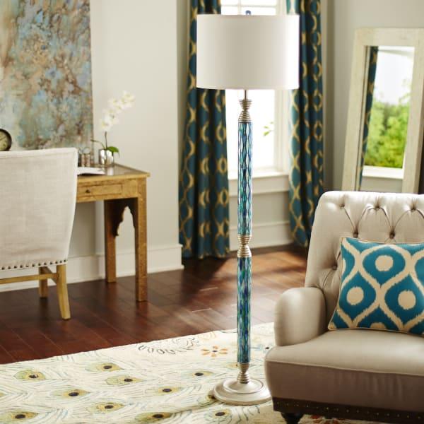 Helena Mosaic Blue Floor Lamp