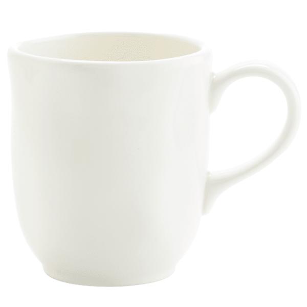 Everly White Coupe Mug