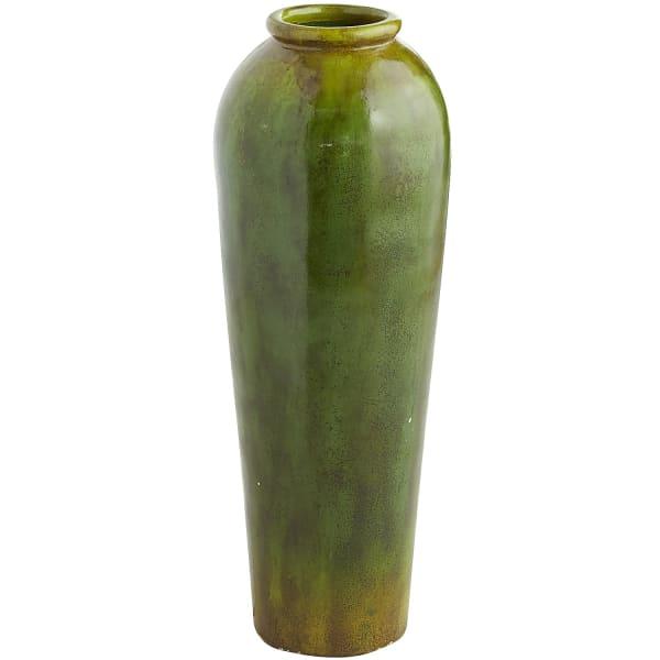 Patina Tropical Green Terracotta Urn Floor Vase