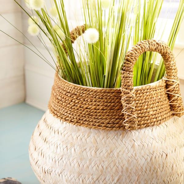 Julianna White & Natural Wicker Basket