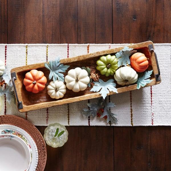 Chiseled Wood Decorative Bowl