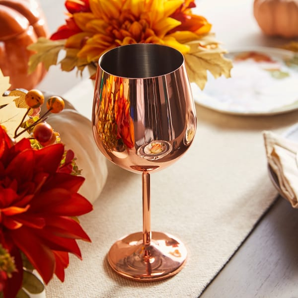 Copper Stainless Steel Wine Glass