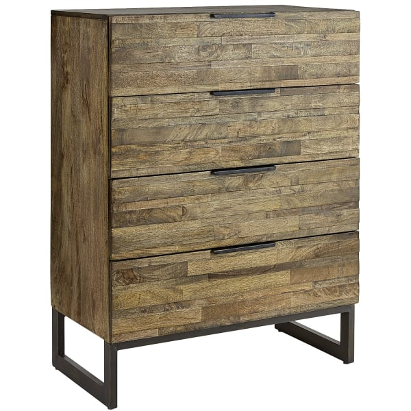 Pierce Natural Gray Washed Tall Chest