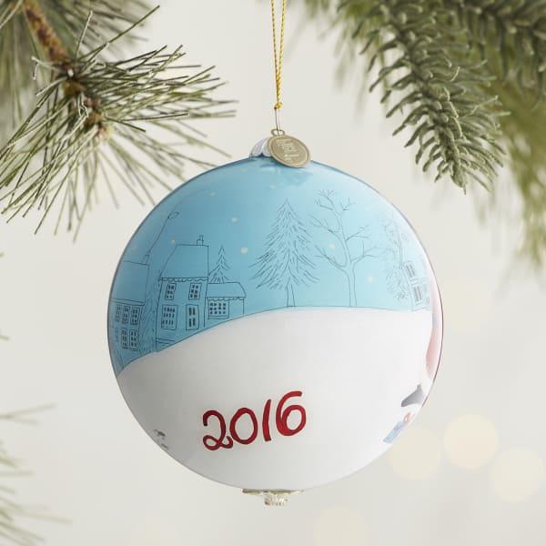 Li Bien Santa & Dogs Ornament
