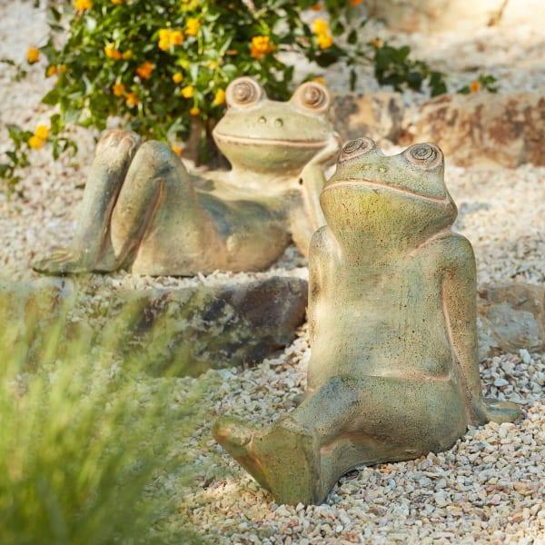 Relaxing Terracotta Frog