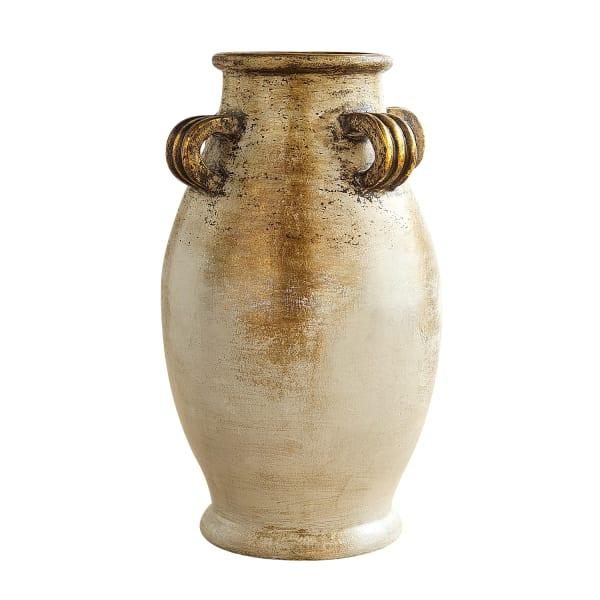 Silver & Copper 4-Handle Vase