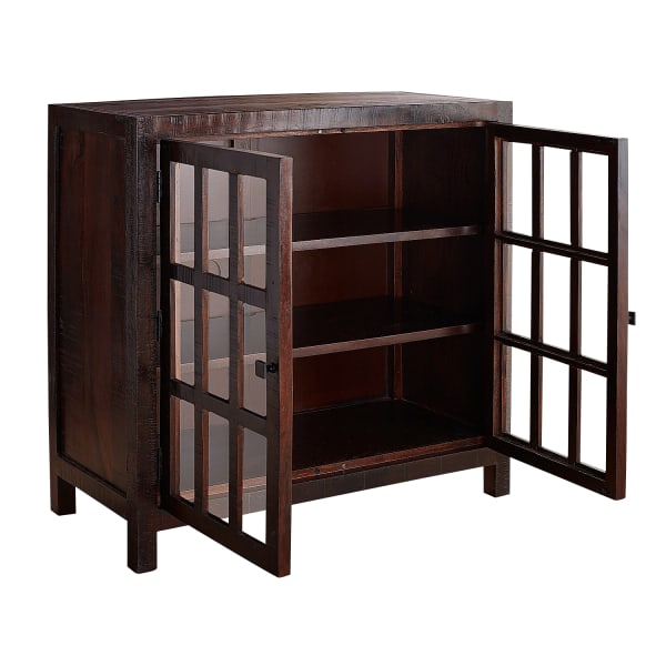 Parsons Tobacco Brown Small Glass-Door Buffet