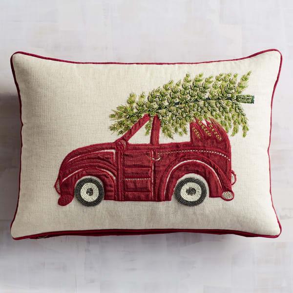 Beaded Tree on Car Lumbar Pillow