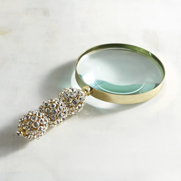 Golden Jeweled Magnifying Glass