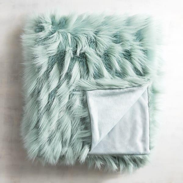Faux Fur Eyelash Mineral Throw