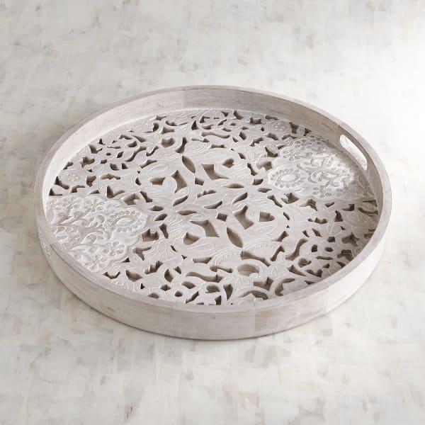 Whitewashed Flower Tray