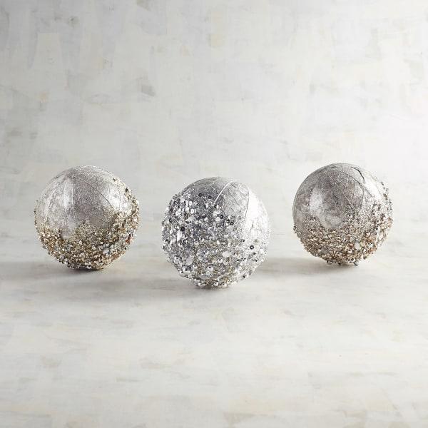 Jeweled Decorative Sphere Set of 3