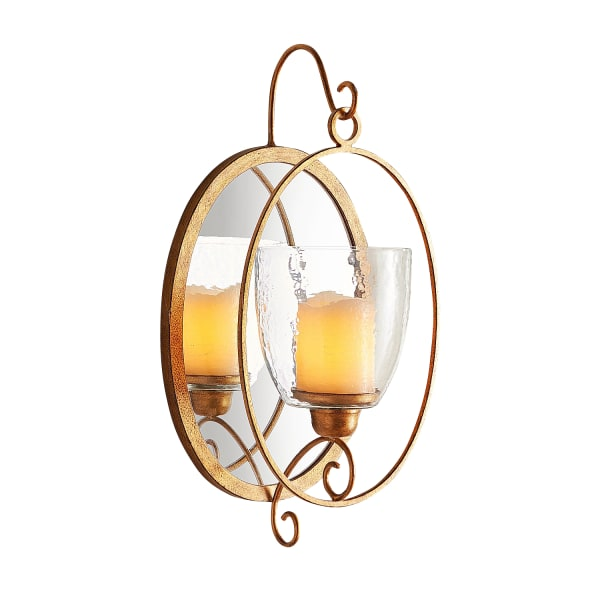 Oval Mirror Candle Wall Sconce