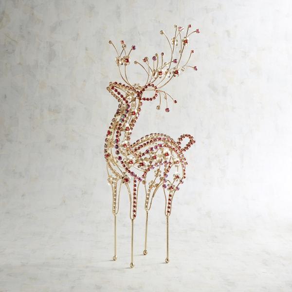Red Gem Wire Reindeer