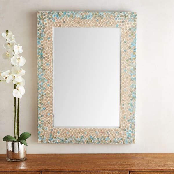 Sky Blue Capiz 30x40 Mirror