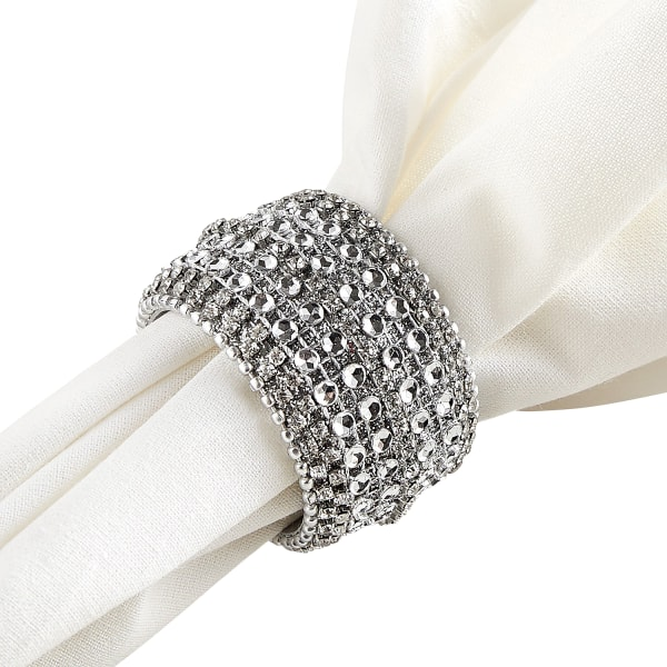 Jewel Silver Bling Napkin Ring