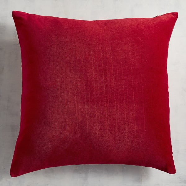 Red Flounce Heart Pillow
