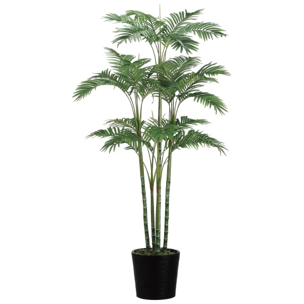 Faux Areca Palm Tree in Bamboo Container