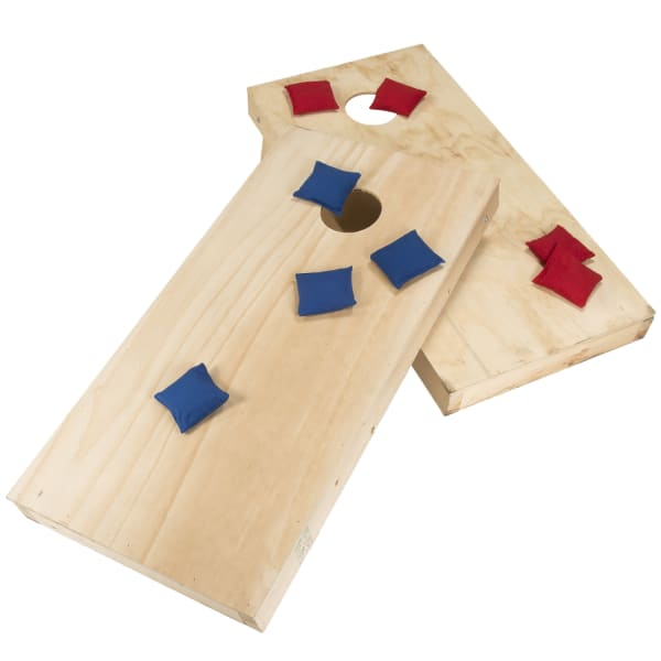Unfinished Regulation Size Wooden Cornhole Set