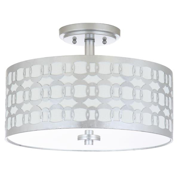 Silver Pattern Flush Mount Pendant Light