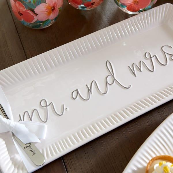 Hostess Mr. & Mrs. Wedding Serving Set