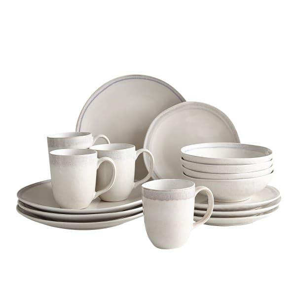 Shoreline Ivory Reactive 16-Piece Dinnerware Set