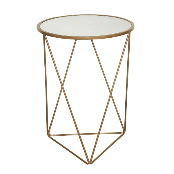 Triangle Gold Base Accent Table