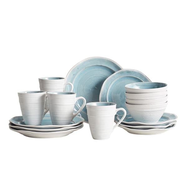 Midori Sky Blue 16-Piece Dinnerware Set