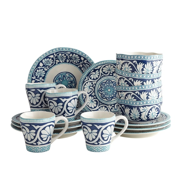 Moana Blue 16-Piece Dinnerware Set